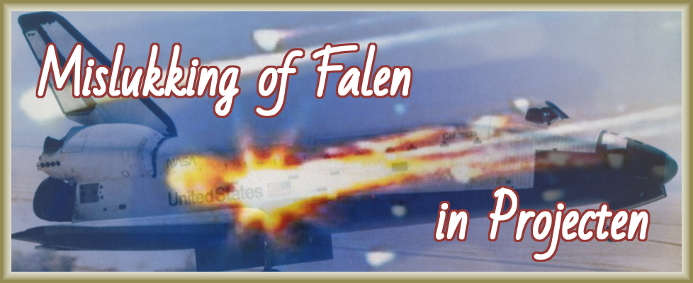 Mislukking of falen in projecten